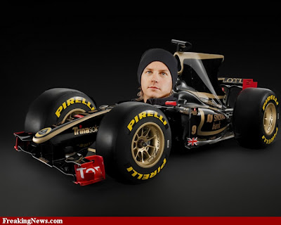 Кими Райкконен в болиде Lotus F1 2012 via Freaking News