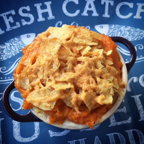 Sweet Potato Crispy topped Fish Pie for the Young Fish Pie Master Challenge