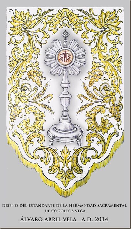 diseño de estandarte sacramental cofradia cogollos vega alvaro abril