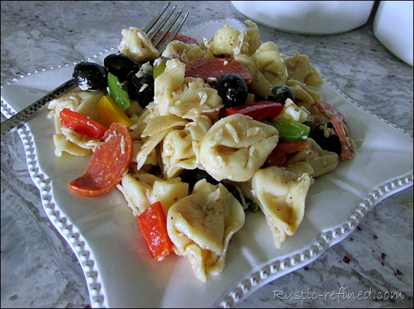 Summer Pasta Salad @ Rustic-refined.com