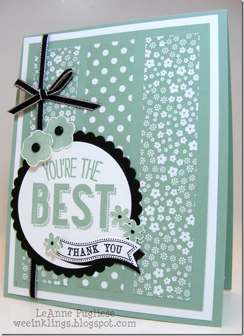 LeAnne Pugliese WeeInklings Paper Players 268 Friendly Phrases Stampin Up Thank You