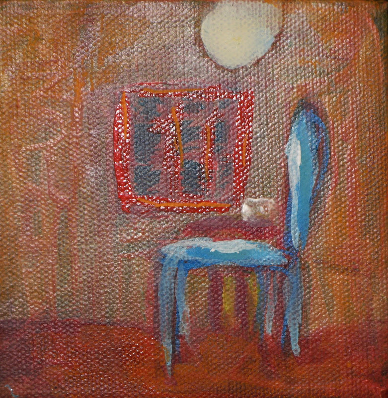 """Another Blue Chair"" Acrylic SOLD"