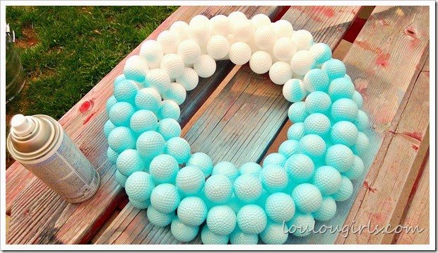 golf ball wreath1