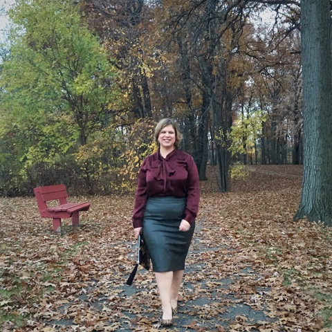 Curvy Girl on the Run: Sunday Style: Faux Leather