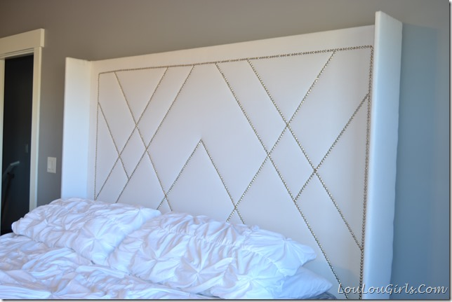 West Elm Inspired diy upholstered headboard