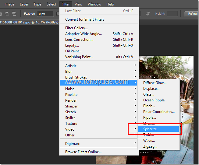 tutorial membuat efek lensa fish eye photoshop
