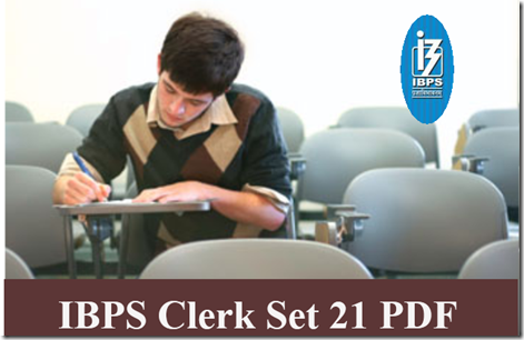 IBPS Clerk Preliminary Question paper PDF Set21