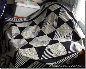Boxes n Bows Quilt Pattern-Black-White