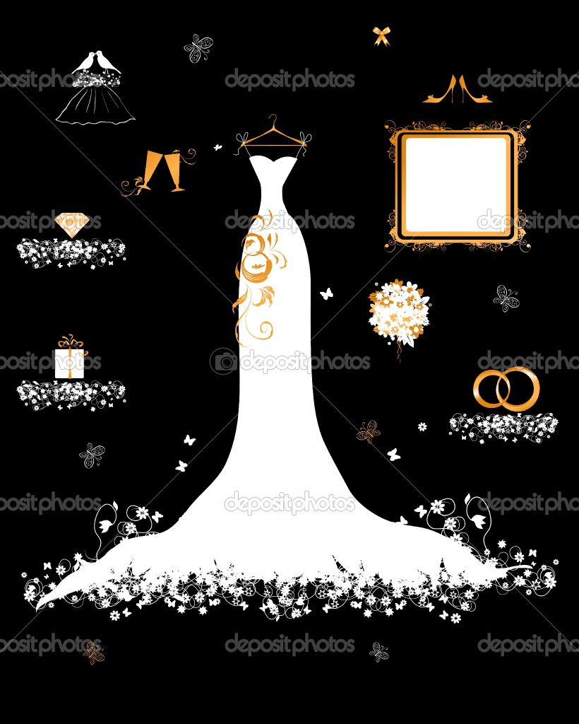 Wedding shop, white dress and