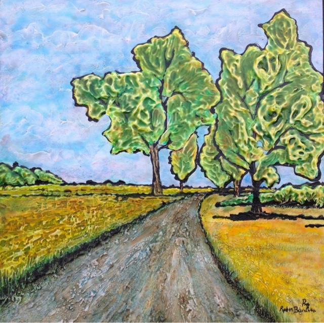 painting, Ontario country roads, Elgin County roads, Canadian Art, Robin Baratta