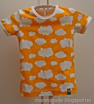 t-skjorte skyer gul ikke publ