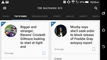 Screenshot of Baltimore Sun