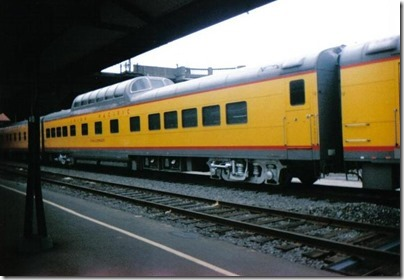 Union Pacific Dome Coach #7015 Challenger at Union Station in Portland, Oregon on September 26, 1995
