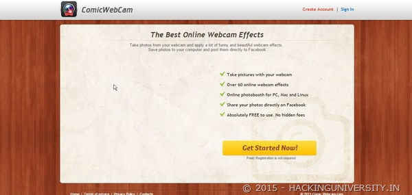 comic webcam online tool