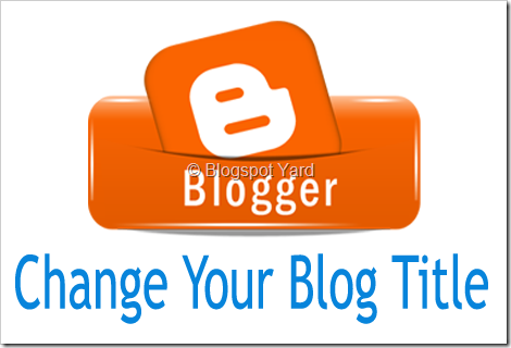 how to change blog title
