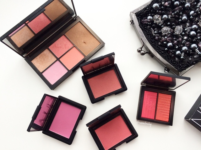 favourite nars blushes and palette NC40 skin