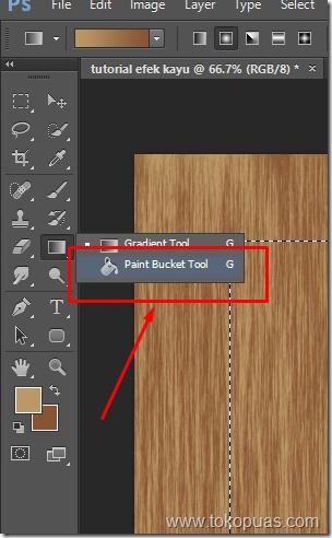 tutorial photoshop efek element kayu