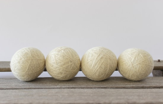 Natural Wool Dryer Balls from Simple is Pretty Shop