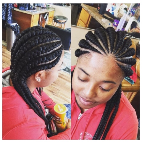 Thick Cornrows Best For Fast Simple And Elegant Look