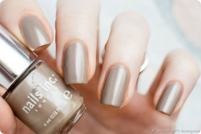 LFB Taupe Greige Nails Inc London Chester Street Swatch Pearl_