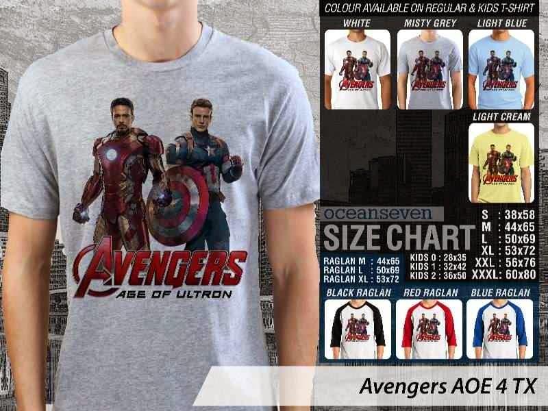 Jual Kaos Captain America superhero Avengers 4 Ironman