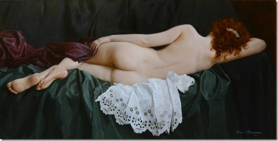 green silk - Anna-Marinova - ENKAUSTIKOS