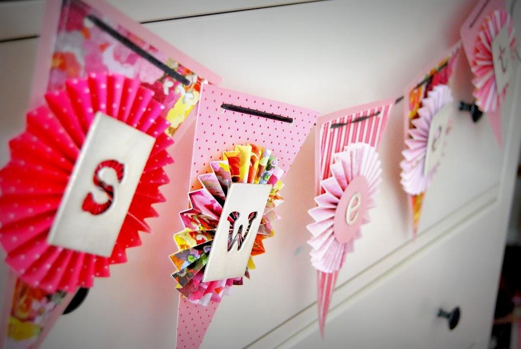 Как украсить флажки на день рождения