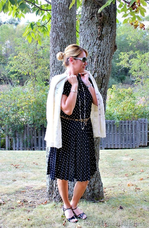 vintage-polka-dot-dress-leopard-belt-black-sandals2
