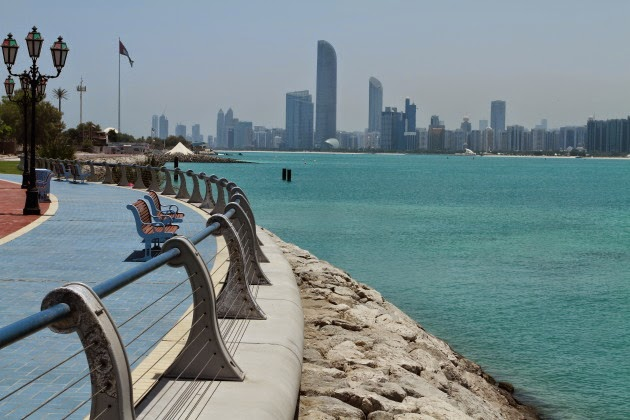 Lovely Abu Dhabi Downtown view from the Corniche