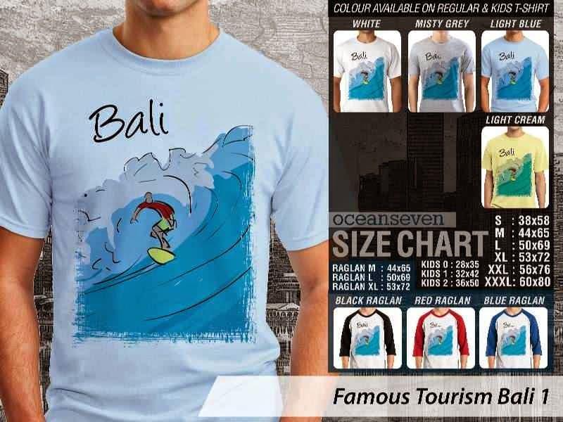 Kaos Wisata Bali 1 Indonesia distro ocean seven