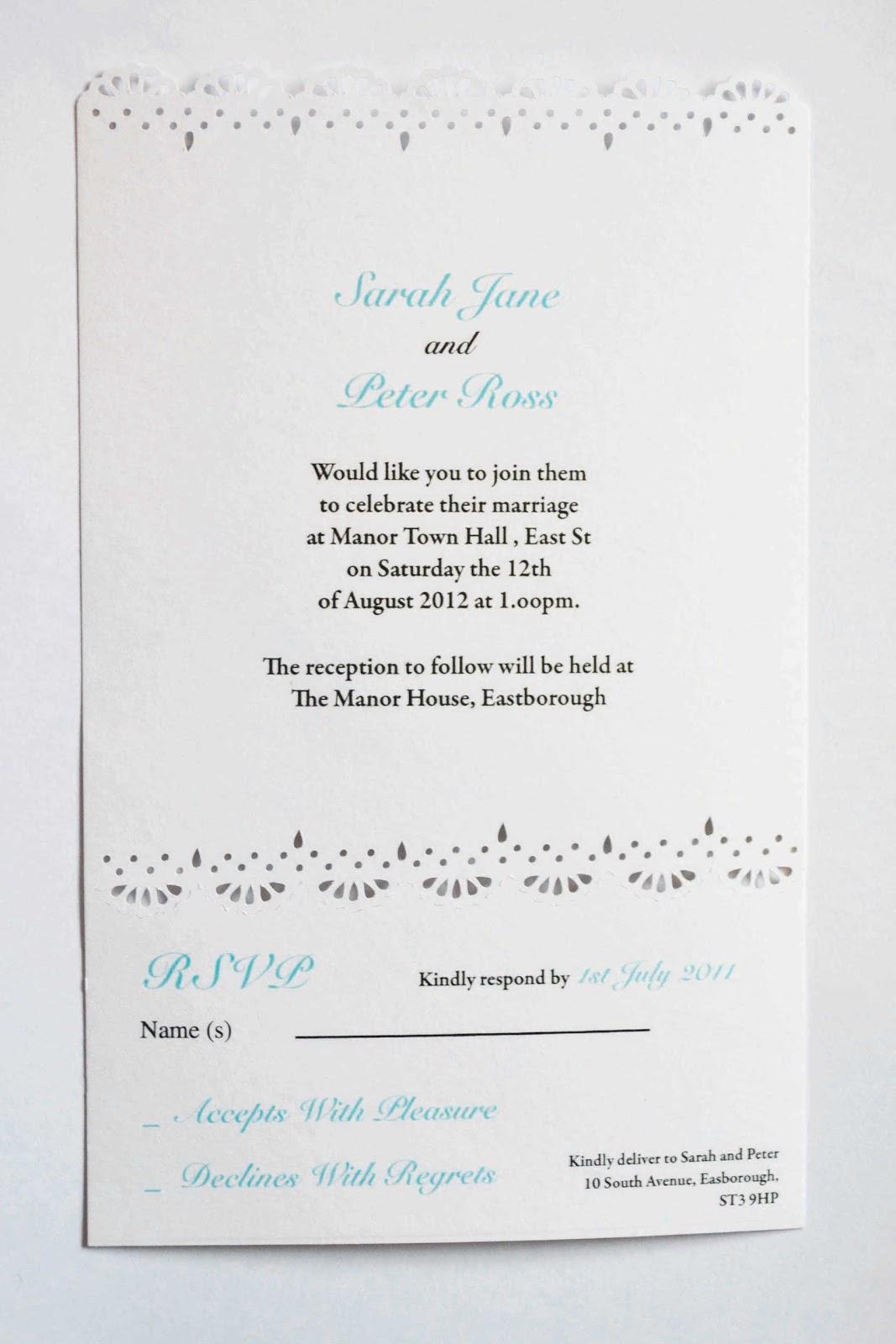 Lace laser cut wedding