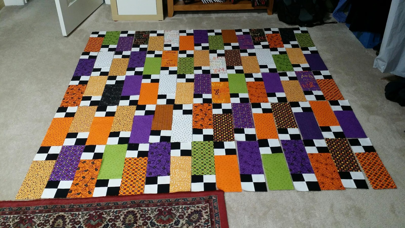 Ramblings of a quilter: A Cute Halloween Quilt