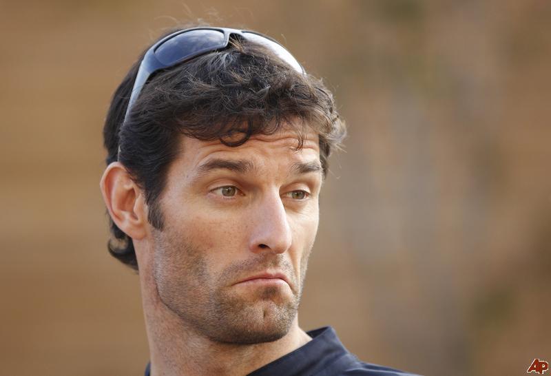 забавное лицо Марка Уэббера на Гран-при Кореи 2011