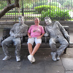 Lori with 2 street statues in New Orleans 07242012-02