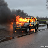 Autobrand Borgesiusweg - Foto's Teunis Streunding