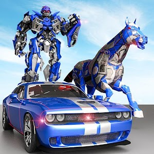 US Police Transform Robot Car Cop Wild Horse Games For PC