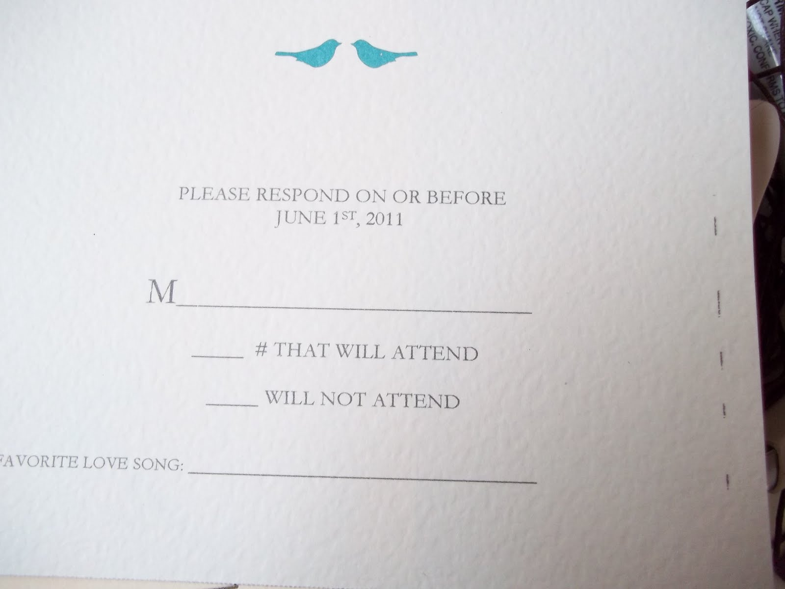 Semi-DIY wedding Invitations