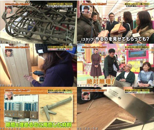 [TV-Variety] 所さんのそこんトコロ【ホームセンターで突撃!コレ買って何を作る?】 – 2016.02.05