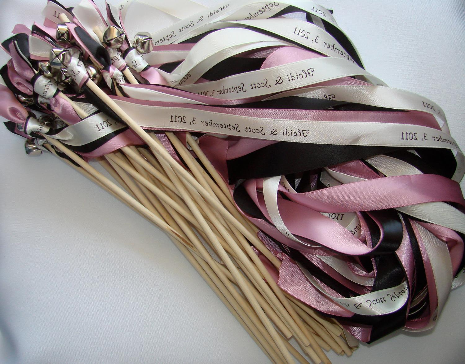 50 Wedding Wands Personalized