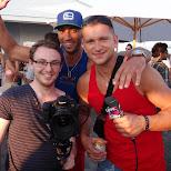 the camera man Matt with John & Dennis at Cabana in Toronto, Ontario, Canada