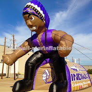 Standing Indian Inflatable Football Mascot.JPG