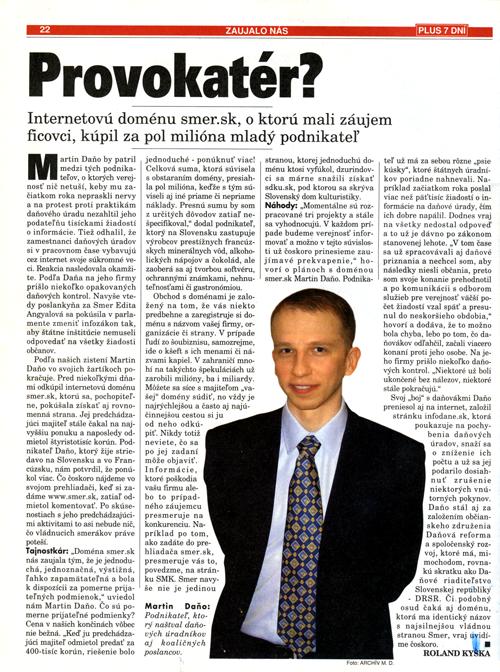 Provokatér Martin Daňo