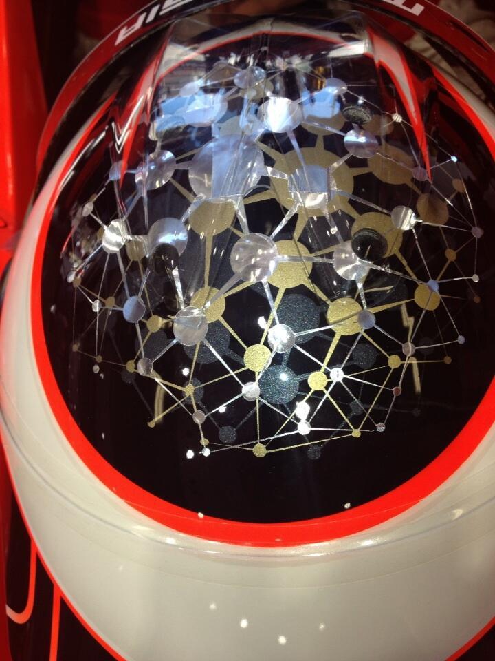 шлем Жюля Бьянки для Гран-при Монако 2013