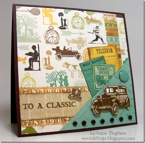 LeAnne Pugliese WeeInklings Paper Players 248 Guy Greetings Masculine Card Stampin Up