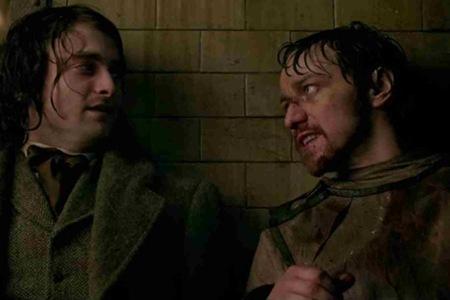 daniel radcliffe & james mcavoy as VICTOR FRANKENSTEIN