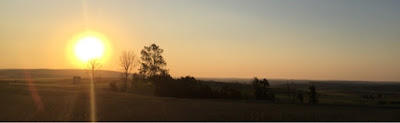 puesta de sol Santovenia de Oca