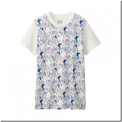 UNIQLO UT X Peanuts Movie Women Short Sleeve Graphic T-Shirt 05