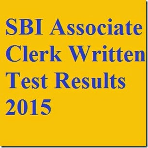 SBI Associate Clerk Written Test Results