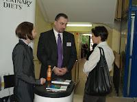 W czasie przerwy, stoisko firmy Nestle PURINA - sponsora strategicznego cyklu Szkoleń VetBiznes