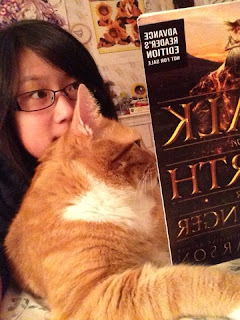 Ripple and I reading Walk on Earth a Stranger